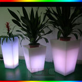 Color del LED que cambia el plantador iluminado eléctrico