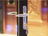 Qualitäts-thermischer Bruch-Aluminiumbalkon-Falz-Tür K07005