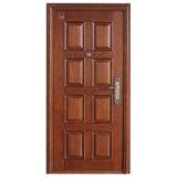 Porte blindée de porte en bois en acier de sécurité (BN-AD-201)