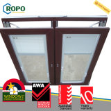 Окно наклона и поворота обеспеченностью UPVC/PVC двойное стеклянное стеклянное
