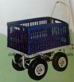 Vier Rad-Lebensmittelgeschäft-Käufer-Verbraucher, die Laufkatze-Karren falten