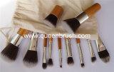 Handle en bambou Synthetic 11PCS Professional Cosmetic Brush Set
