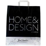 2014 bolsa de plástico con el logo y diseño, la manija del clip bolsos, los bolsos de compras, bolsos del regalo, bolsos promocionales (HF-175)