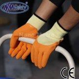 Nmsafety 3/4 перчаток Gripper покрытого латекса Crinkle покрытых