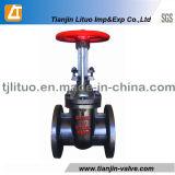 GOST válvula de porta 30CH6br da água do ferro de molde de 6 polegadas
