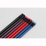 Crayons ronds de qualité avec l'extrémité de gomme à effacer, 3 couleurs assorties en module
