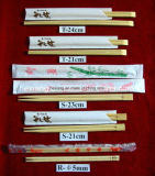 La coutume de haute qualité a estampé la baguettes en bambou remplaçable de pieux en bambou en bois de cuillère