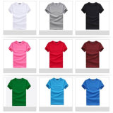 Tissu blanc noir des T-shirts 100%Cotton de coton