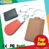 HUAYUAN MIFARE 1K clásico RFID Keychain de cuero
