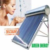 Colector solar del tubo de vacío (calentador de agua caliente solar del acero inoxidable)
