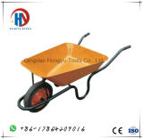 Wheelbarrow de France Wb3800 da bandeja do metal de Green&Yellow