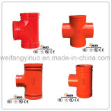Pipe Grooved Fittings 300 PSI Grooved Reducing Cross con FM/UL/Ce