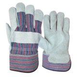 """10.5 """" Kuh-aufgeteiltes Leder-Sicherheits-Arbeits-Handschuh mit gezeichneter AB-Grad-Cer-Bescheinigung"""