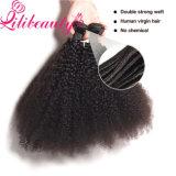 Tecelagem peruana Kinky do cabelo do cabelo humano da onda do Afro
