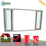 Puerta de vidrio de desplazamiento de cristal plástica moderna de la casa UPVC Templed