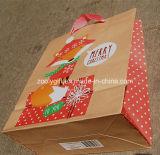 Reciclar la bolsa de papel cómoda de Eco Kraft del bolso de compras del papel de Brown Kraft