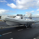 Liya 27 ' Rippen-Yacht-Fiberglas-Rumpf-aufblasbarer Boots-Verkauf