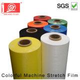 Abrigo del estiramiento de la máquina del calibrador de la película de estiramiento del color del precio competitivo 80