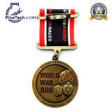 Medaille van de Looppas van de douane 3D, de PromotieMedaille van Sporten