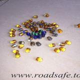 強い道路の安全はカラーガラス玉の反射鏡を反押す