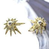 Or/couleur antique d'or avec de petites boucles d'oreille en cristal de goujon de Rhinestone