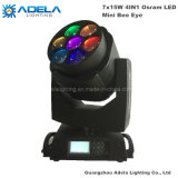 7X15W LED Moving Head Mini Bee Eyes Light