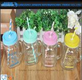 Tarro de masón de cristal de la vendimia para el almacenaje de la bebida y del alimento