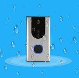 Sonnette intelligente sans fil d'arrivée de WiFi d'argent visuel neuf de sonnette avec l'appareil-photo