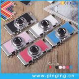 Cubierta del teléfono celular de la cámara de PC+Silicone para el iPhone 6/6s más