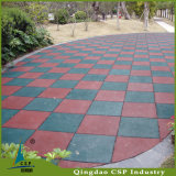 Matting de borracha do assoalho colorido do campo de jogos/telhas ao ar livre da borracha do assoalho
