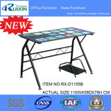 Steel Frame를 가진 주문 Simple Tempered Glass Table