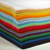 Craft Work 42 Colors Super Soft Squares15*15cm/5.9*5.9inch、About 1.5mm Thick、Type aのためのクラフトDIY Polyester Felt Nonwoven Fabric Sheet