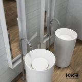 Античный твердый поверхностный каменный Freestanding тазик для ванной комнаты (B1705071)