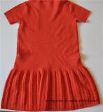 Kinder schließen Hülseknit-Strickjacke-einteiliges Kleid kurz