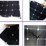 Soldat de marine semi flexible mono direct de cellules du panneau solaire 100watt d'usine