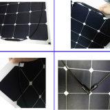 Infante de marina semi flexible directo de la célula del panel solar 100watt de la fábrica mono
