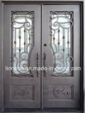 Funktionelle Glaspanels u. Flysscreen bearbeitetes Eisen-Eintrag-Türen