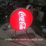 Коробка вакуума СИД волдыря колонки улицы напольная акриловая рекламируя бортовая светлая