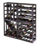 Support amovible en bois séduisant de vin de cube en mémoire de vin de plateau