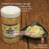 Gengibre Pickled do sushi no frasco