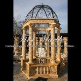 Gouden Travertijn Gazebo voor Decoratie mgz-281 van de Tuin