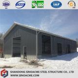 Almacén ligero de la estructura de acero con experiencia rica