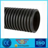 Negro caliente de 2017 tubo del PE del tubo de desagüe acanalado del nuevo productos 3 ''