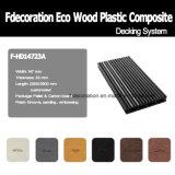 Assoalho plástico de madeira do Decking do composto WPC da tira do fósforo
