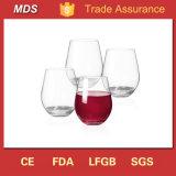 Taza sin pie de encargo del vidrio de vino de las mercancías caseras para beber