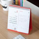 Дешевая спираль календара стола оттиска большого формата 2017 - связанный календар стола