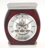Horloge affligée ovale de bureau