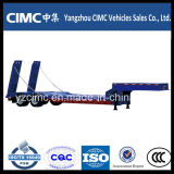 Cimc Low Bed Truck Semi-Trailer pour Excavator Trasnsportation