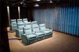 Sofá de la sala de estar con el sofá moderno del cuero genuino fijado (796)