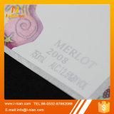 Etiquetas plásticas de envernizamento UV do vinho da folha de ouro da prata feita sob encomenda da cópia